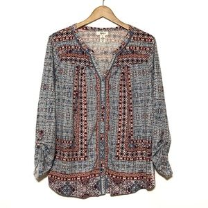 Style & Co Printed Tunic